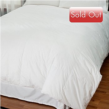 430-001 - North Shore Linens™ Nano-Tex® 230TC Cotton White Down Comforter