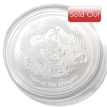 430-119 - 2012 1 oz Silver Perth Mint Lunar Dragon Dollar Coin