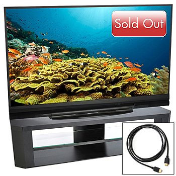 430-130 - Mitsubishi 73'' 1080p 120Hz 3D DLP HDTV w/ Stand, HDMI Cable & 2-Year Warranty