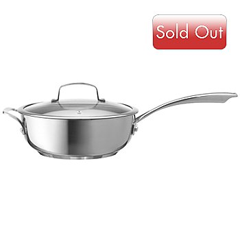 430-145 - Macy's Tools of the Trade® Belgique® 3.5 Qt. Stainless Steel Saucier Pan w/ Tempered Lid