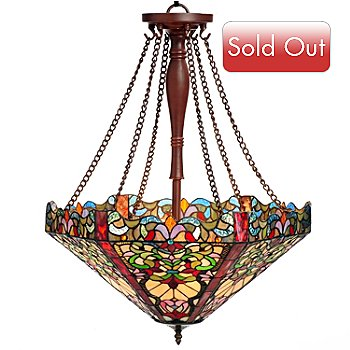 430-265 - Tiffany-Style 28'' Florence Stained Glass Hanging Lamp