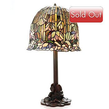 430-276 - Tiffany-Style 23'' Pond Lily Stained Glass Table Lamp