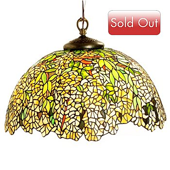430-278 - Tiffany-Style 22'' Laburnum Stained Glass Hanging Lamp