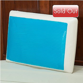 430-300 - Comfort Revolution® Hydraluxe™ Gel Wave Design Memory Foam Pillow