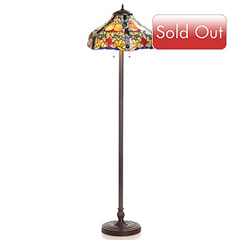 430-452 - Tiffany-Style 61.5'' Miranda's Stained Glass Floor Lamp