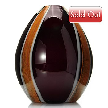 430-470 - Favrile 8.5'' ''Melrose'' Oval Hand-Blown Art Glass Vase