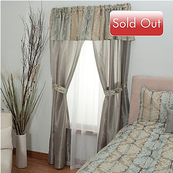 430-960 - Cozelle® ''Newcastle'' Attached Panel & Valance Window Set