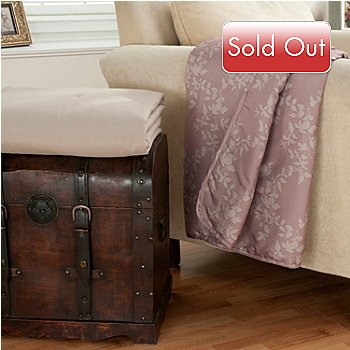 431-027 - Cozelle® ''Augusta'' Set of Two Microfiber 60'' x 50'' Throws