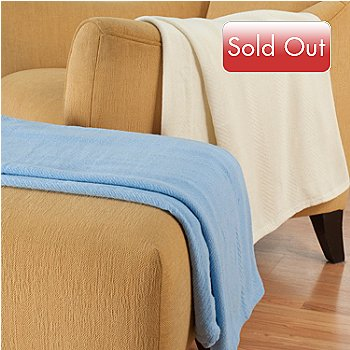 431-031 - North Shore Linens™ Set of Two Cotton Throws