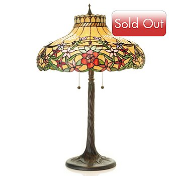431-036 - Tiffany-Style 28'' Charlotte Stained Glass Table Lamp