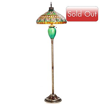 431-063 - Tiffany-Style 66.5'' Harper Ferry Stained Glass Floor Lamp