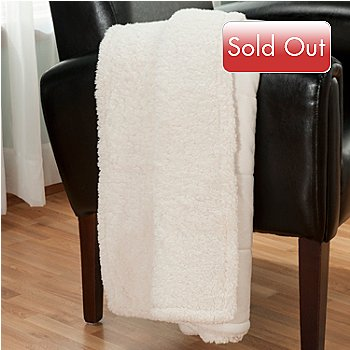431-080 - Macy's Charter Club® 60'' x 50'' Micromink Sherpa Reversible Throw