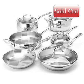 431-081 - Macy's Tools of the Trade® Belgique® 10-Piece Stainless Steel Cookware Set
