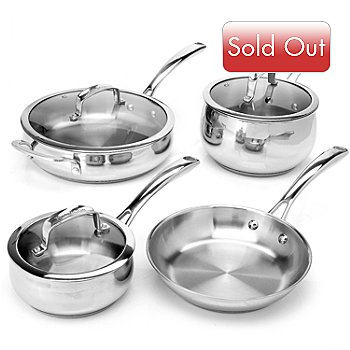 431-092 - Macy's Tools of the Trade® Belgique® Stainless Steel Seven-Piece Cookware Set