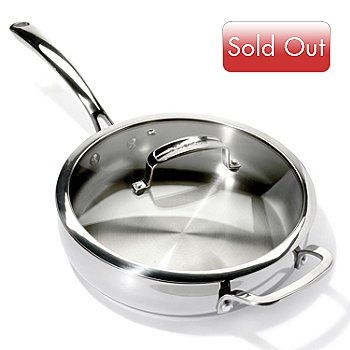 431-100 - Macy's Tools of the Trade® Belgique® 3 qt. Stainless Steel Saute Pan w/ Lid