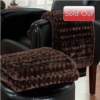 431-132 - Cozelle® Set of Two 70'' x 50'' Faux Fur Throws