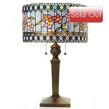 431-189 - Tiffany-Style 24.5'' Circle of Ballamy Stained Glass Table Lamp