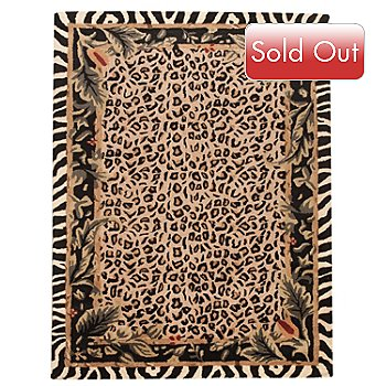 431-271 - ''Jungle Kingdom'' 5' x 8' Hand Tufted Wool Rug