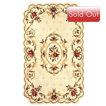 431-276 - Global Rug Gallery ''Fantasia Aubusson'' Floral Hand Tufted 100% Wool Rug