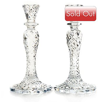 431-322 - Waterford® Crystal Sea Jewel Set of Two 10'' Candlesticks