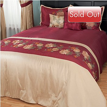 431-357 - North Shore Linens™ ''Mums'' Five-Piece Bedspread Set
