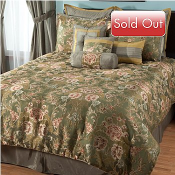 431-387 - North Shore Linens™ ''Engels'' Microfiber 10-Piece Bedding Ensemble