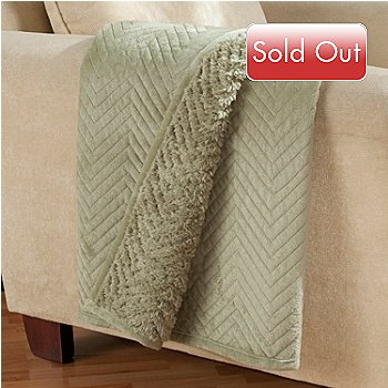 431-390 - Cozelle® 60'' x 50'' Faux Sherpa & Micro Mink Quilted Throw