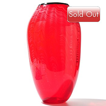 431-467 - Favrile Prosperous 14'' Hand-Blown Art Glass Vase