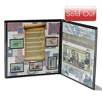 431-527 - Civil War 150th Anniversary Currency & Stamp Collection