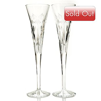 431-542 - Waterford® Crystal Times Square 2013 5 oz. ''Let There Be Peace'' Toasting Flute Pair
