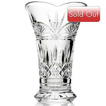 431-563 - Waterford® Crystal 8'' Flared Vase -Signed by Jim O' Leary