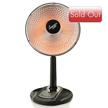 431-788 - Comfort Zone® 700/1000 Watt Oscillating Radiant Dish Heater w/ Remote