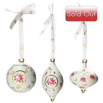 431-793 - Royal Albert® New Country Roses Set of Three Ornaments