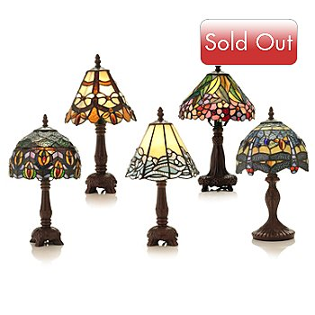 431-821 - Tiffany-Style Set of Five 14.5'' Table Lamps