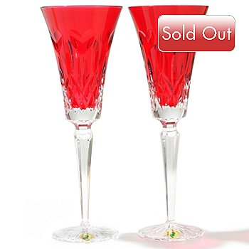 431-854 -  Waterford® Crystal ''I Love Lismore'' Set of Two Toasting Flutes
