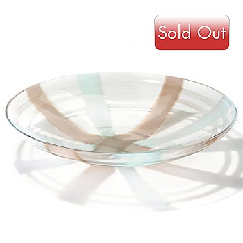 431-903 - Evolution by Waterford® Espresso Swirl Art Glass 15'' Platter