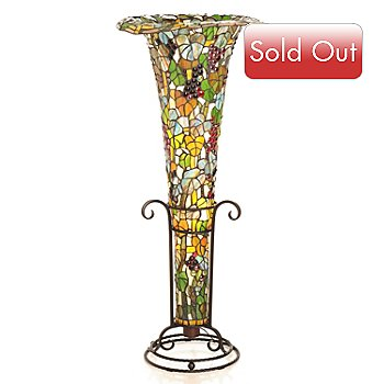 431-912 - Tiffany-Style 45'' Napa Fantasy Stained Glass Floor Lamp