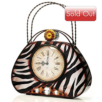 432-164 - 12.7'' Zebrina Purse Clock