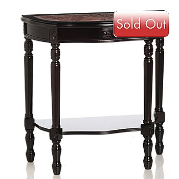 432-186 - 30'' Demi Lune Finnegan Marble Table