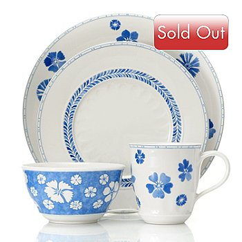 432-281 - Villeroy & Boch Farmhouse Touch Blueflowers Farmhouse Touch Blueflowers 16-Piece Dinnerware Set