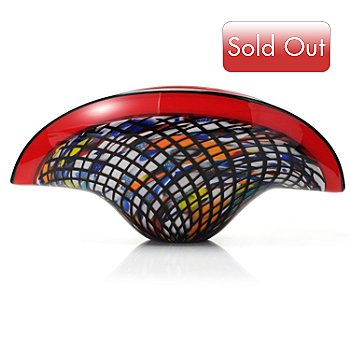 432-362 - Favrile 17.75'' Hand-Blown Art Glass Bowl