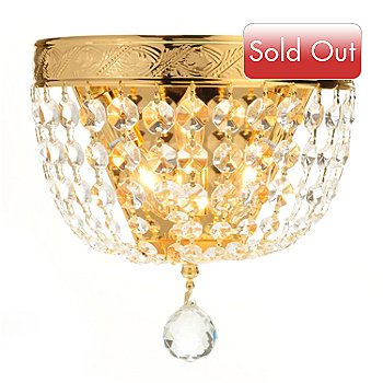 432-503 - Gallery 9'' Crystal Glass Empire Wall Sconce