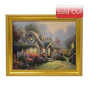 432-531 - Thomas Kinkade ''Candlelight Cottage'' 16'' x 20'' Framed Textured Print
