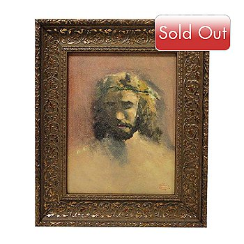 432-541 - Thomas Kinkade ''Prince of Peace'' 14'' x 11'' Framed Textured Print