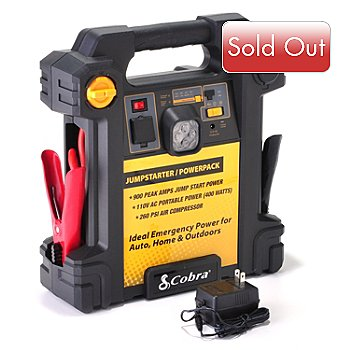 432-546 - Cobra® 900 Amp Jumpstarter w/ Emergency Power & Built-In Air Compressor