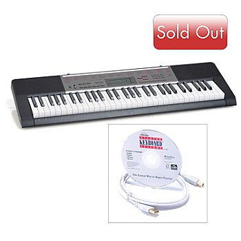 432-547 - Casio 61 Lighted Key USB Keyboard w/ USB Cable & Music Software