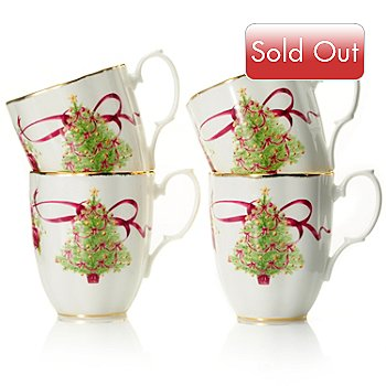 432-558 - Royal Albert® Old Country Roses 4.1'' Bone China Set of Four Holiday Mugs