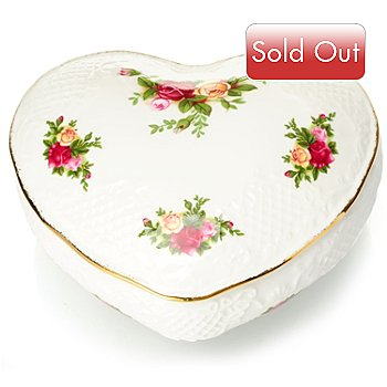 432-567 - Royal Albert® Old Country Roses Bone China 5'' Victorian Heart Box