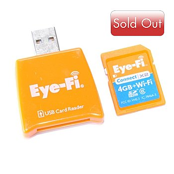 432-714 - Eye-Fi™ Connect X2 4GB & Wi-Fi Class 6 SDHC Card