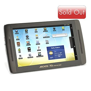 432-731 - Archos 70b 7'' 8GB Android™ 3.2 Honeycomb Tablet w/ Four Software Titles